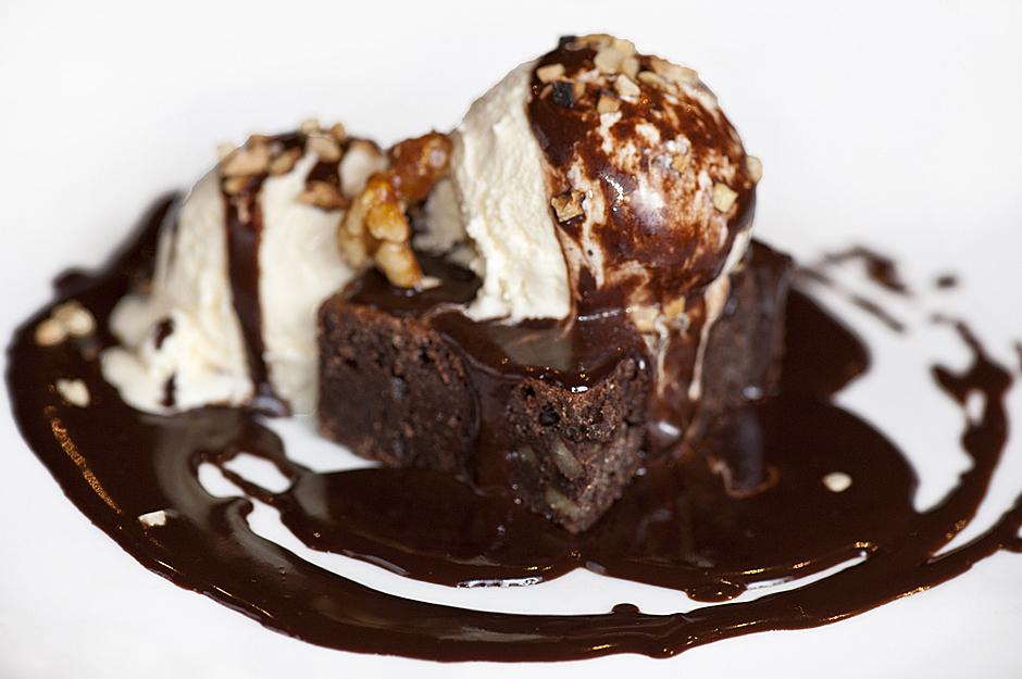 Brownies con helado