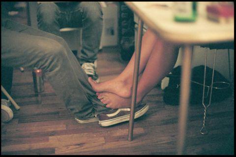 chocar pies