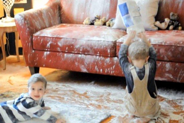 kids-flour-bomb-house-trash-living-room-youtube-viral-video-fake