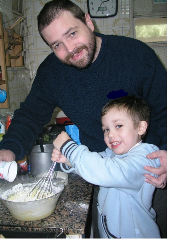 papá cocinando