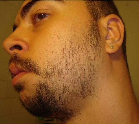 barba dispareja