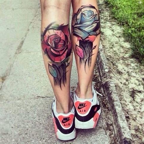leg tattoo12