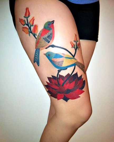 leg tattoo28