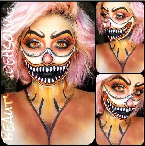 Maquillajes para Halloween que por más que intente jamás lograre33