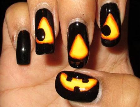 calabaza halloween unas
