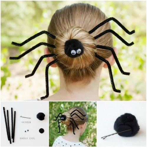 21 locos peinados para hacerle a tus hijos este halloween - Coiffure halloween facile ...