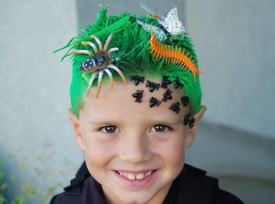 Super dulce peinados niños Fotos de consejos de color de pelo - 21 Locos peinados para hacerle a tus hijos este Halloween