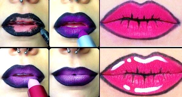 15 paso a paso para pintar tus labios este halloween for Labios mate paso a paso