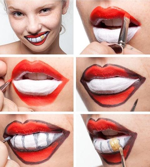 15 paso a paso para pintar tus labios este halloween for Pintarse los ojos facil
