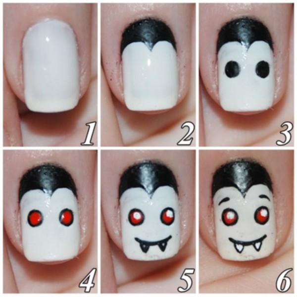 unas halloween vampiro