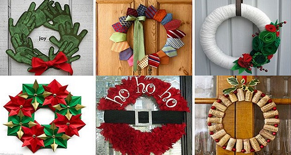 Christmas wreath feature