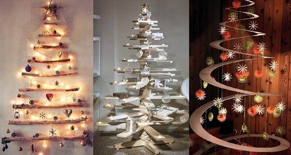 25 Hermosas Alternativas Para Tener Un Arbol De Navidad Diferente - Arboles-de-naidad