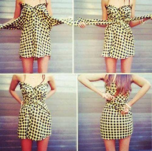 genial forma de hacer playeras vestidos