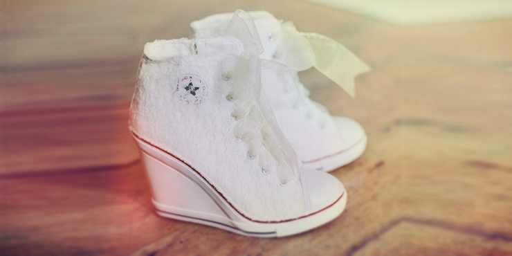 Zapatillas para el vestido de novia