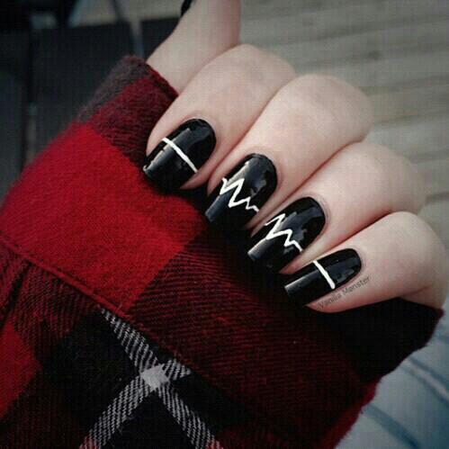 Noticiaspam 30 Diseños De Uñas En Blanco Y Negro Que Te