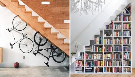 22 maneras de usar el espacio debajo de las escaleras for Espacio escalera