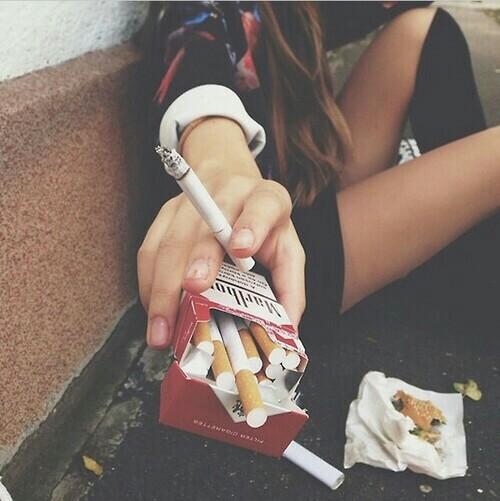 comer fumar
