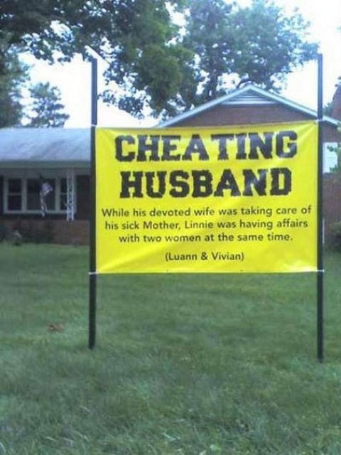 cheating husband