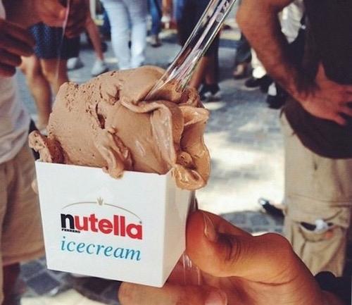 helado nutella o ferrero