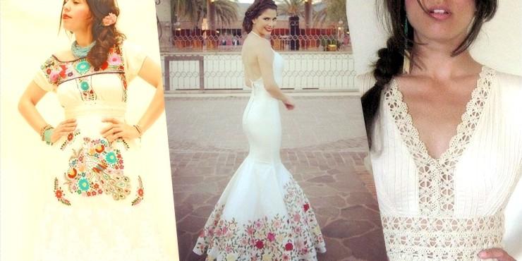 Si quieres una boda al estilo tradicional mexicano, tu vestido debe ser lo primero que grite \u201c¡Esto es una fiesta mexicana señores!\u201d