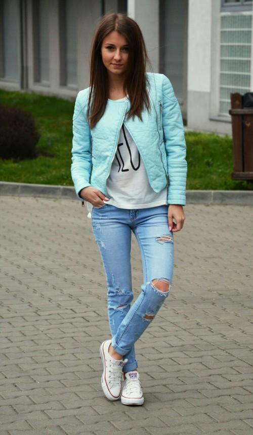 Moda femenina Azul
