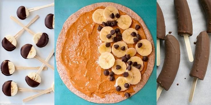 14 deliciosos snacks con bananas
