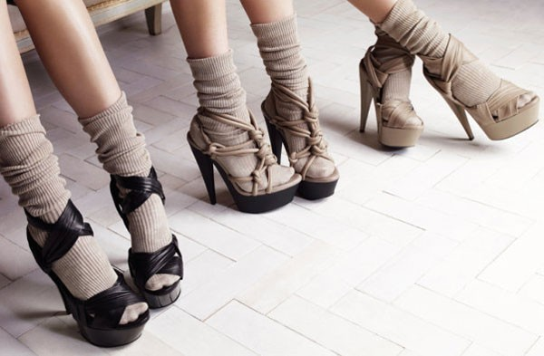 con calcetines