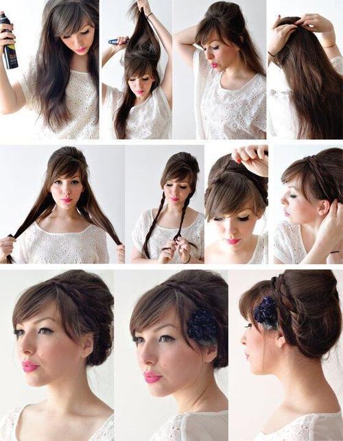 Peinados pelo largo trenzas paso a paso