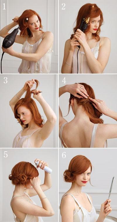 Tipos de peinados para vestidos largos