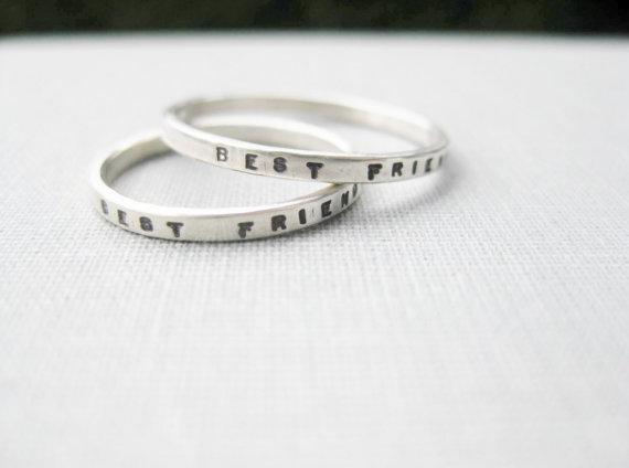 mejores amigos anillos