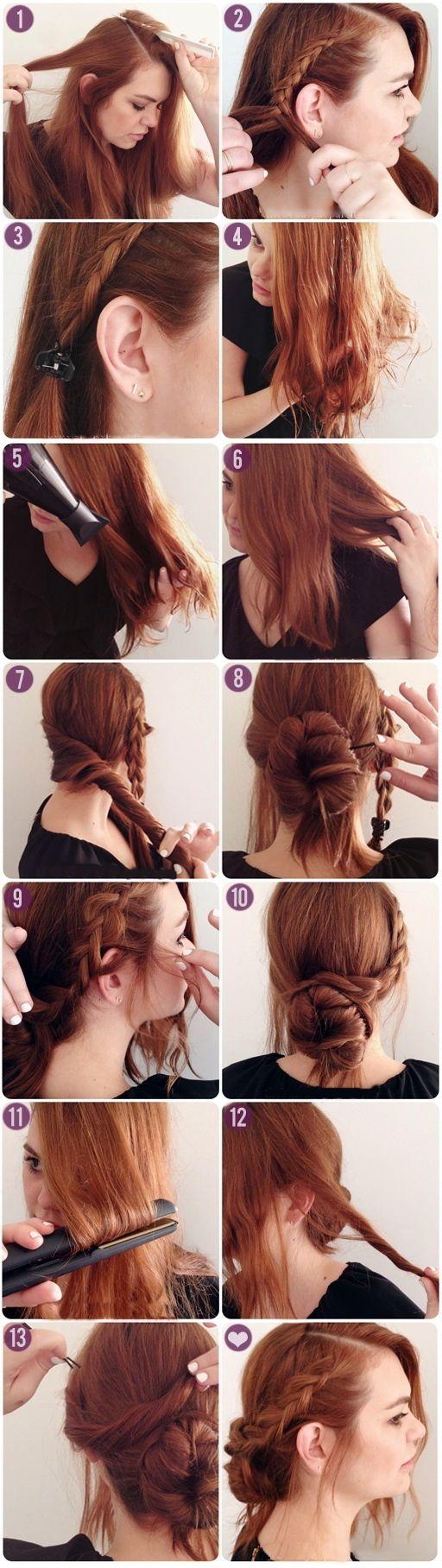 Peinados para pelo largo y liso recogido