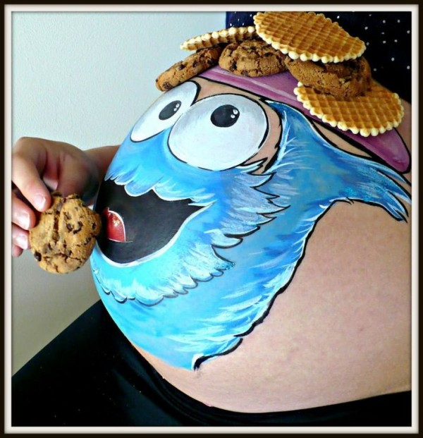 pregnant belly painted6