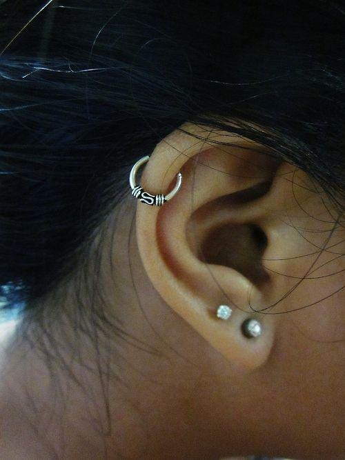Cartilage hoop Earring,2