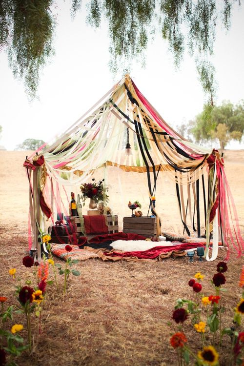 25 Ideas Para Tener Una Fiesta Ultra Hippie - Decoracion-hippie-fiesta
