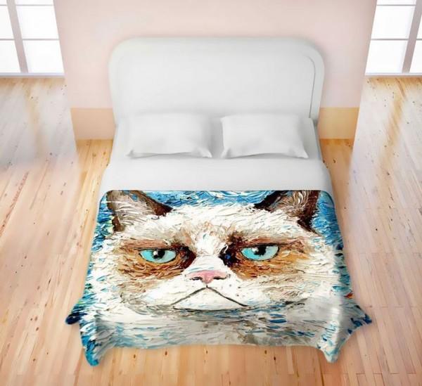 angry cat duvet