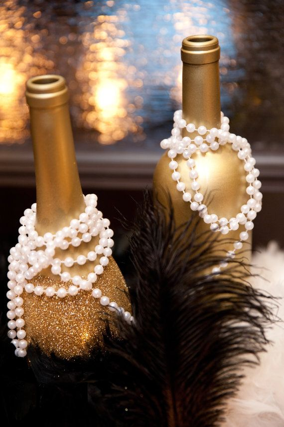 Great Gatsby and Wine Bottles Wedding