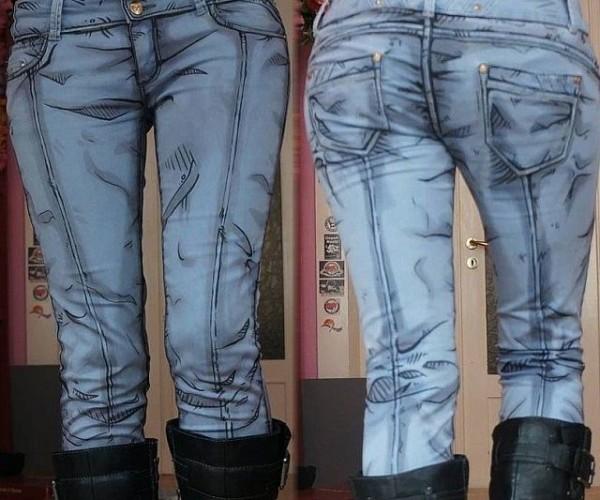 jeans cartoo