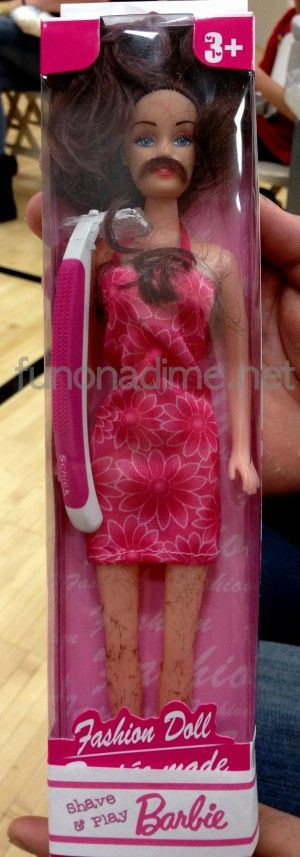 shave barbie