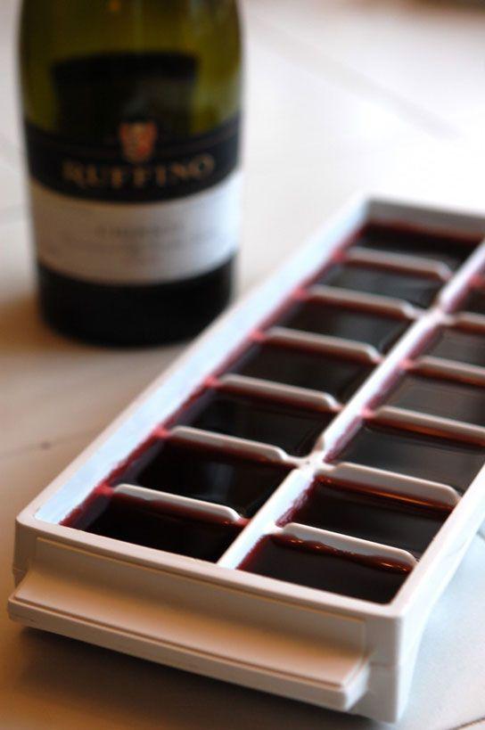 wine ice cube