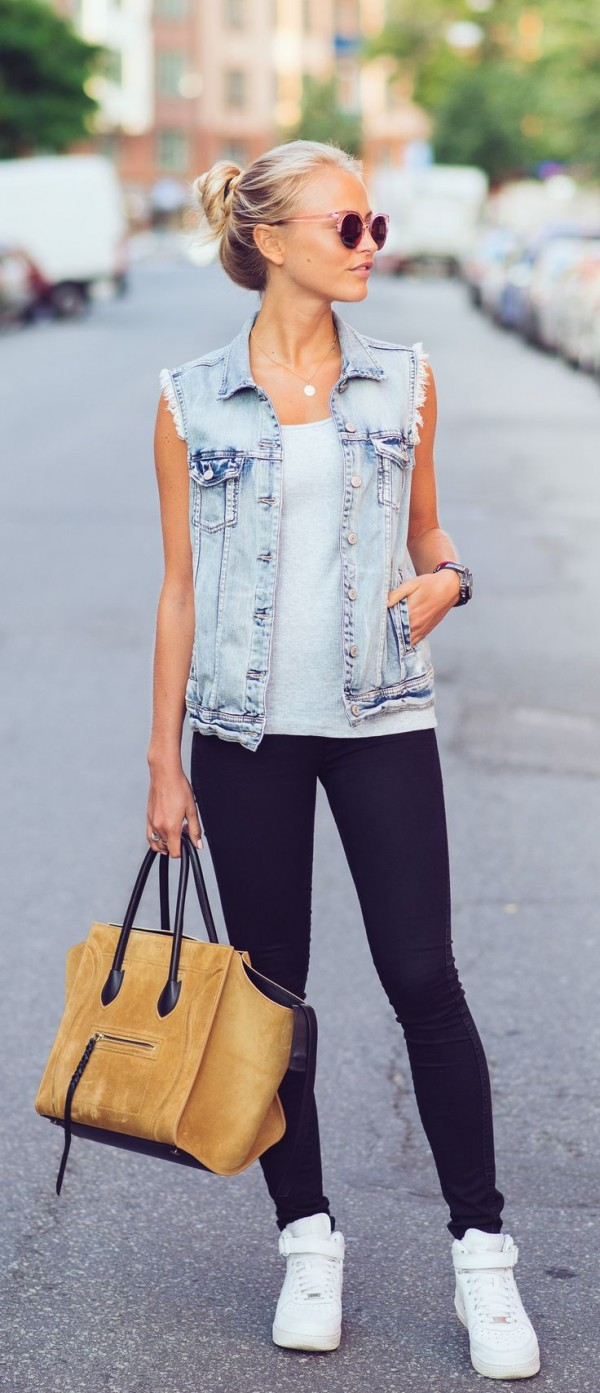 jeans chaleco