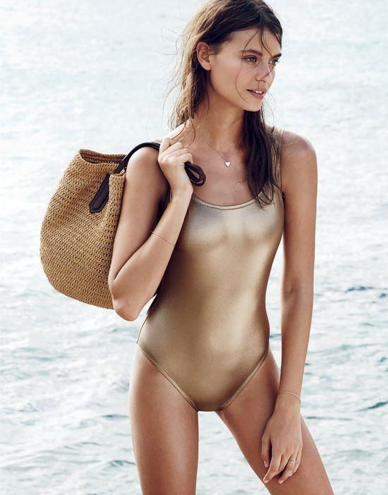 metalic swimsuit
