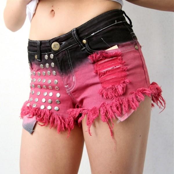 shorts negros rosa