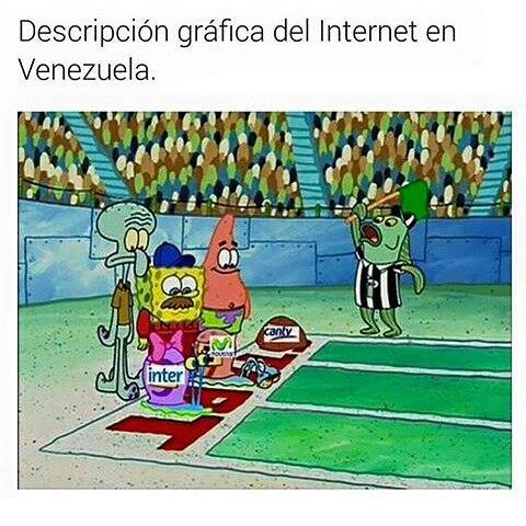 Descripcion grafica del internet en venezuela