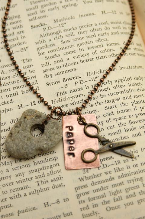 Rock Paper Scissor Necklace11