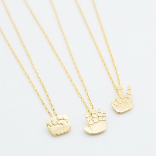 Rock Paper Scissor Necklace14