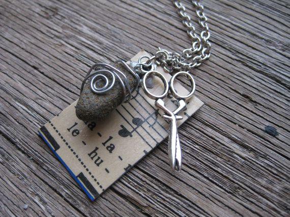 Rock Paper Scissor Necklace15