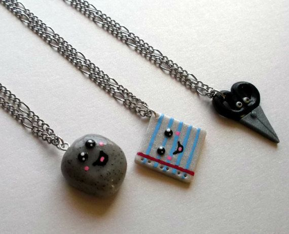Rock Paper Scissor Necklace2
