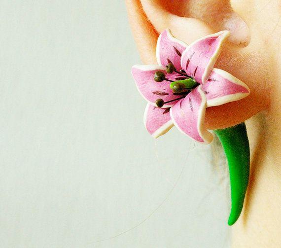 aretes flores