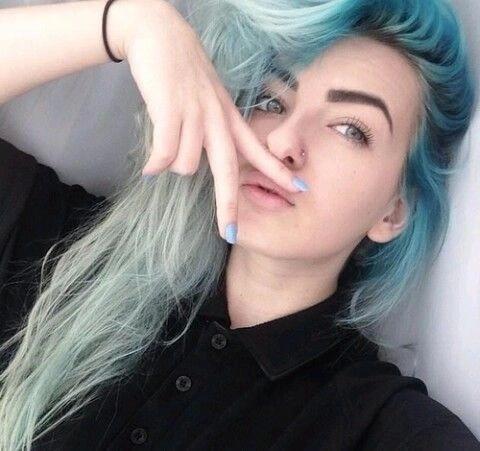 azul ombre cabello
