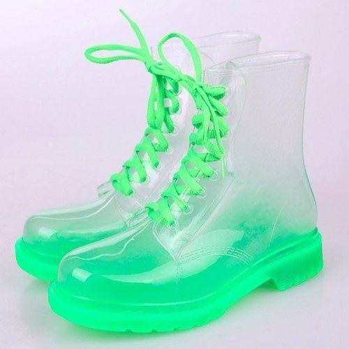 botas transparentes